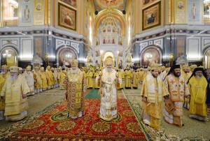 служение Предстоятелей Антиохийской и Русской Православных Церквей