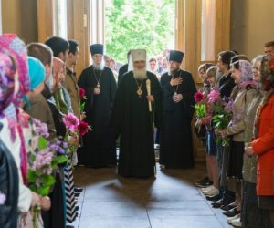Молодежь Богоявленского благочиния поздравила митрополита Истринского Арсения с днём памяти его Небесного покровителя