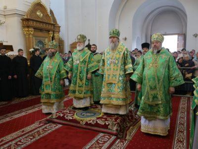 Патриарший экзарх всея Беларуси возглавил торжества по случаю дня памяти преподобной Евфросинии Полоцкой