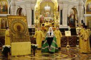 В день памяти святителя Николая Чудотворца Предстоятель Русской Церкви совершил Литургию в Храме Христа Спасителя в Москве
