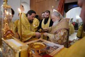 Святейший Патриарх Кирилл совершил великое освящение московского храма Торжества Православия в Алтуфьеве