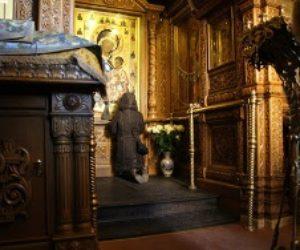 Молебен с акафистом в Иверской часовне.