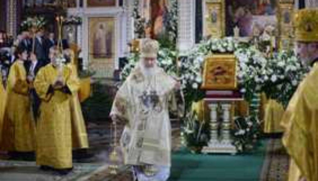 В праздник Рождества Христова Предстоятель Русской Церкви совершил Божественную литургию в Храме Христа Спасителя в Москве