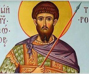 Святой мученик Феодор Тирон. Чин освящения колива.