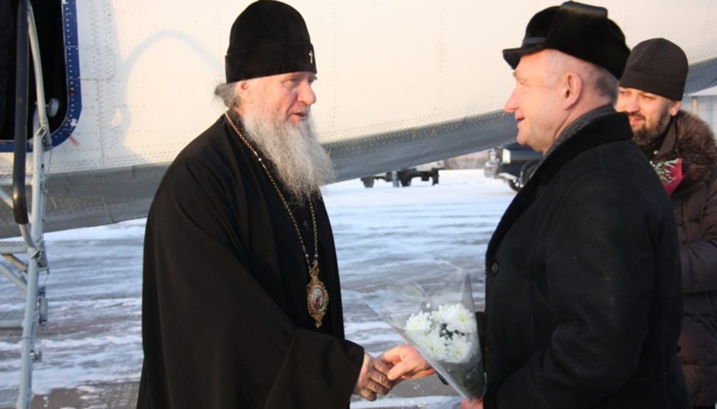 Высокопреосвященнейший Димитрий, архиепископ Витебский и Оршанский, настоятель храма св.Ирины, совершает рабочую поездку в Белоярский район.