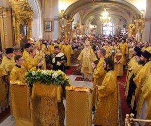 В Неделю Торжества Православия митрополит Истринский Арсений совершил Литургию в Богоявленском кафедральном соборе