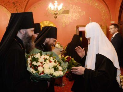 Состоялся торжественный прием по случаю девятой годовщины интронизации Святейшего Патриарха Кирилла