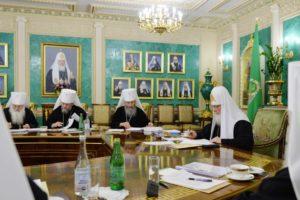Первое в 2018 году заседание Священного Синода прошло в Даниловом монастыре
