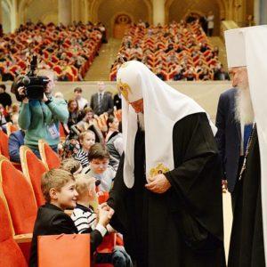 14 марта Святейший Патриарх Кирилл посетит детский праздник «День православной книги» в Храме Христа Спасителя