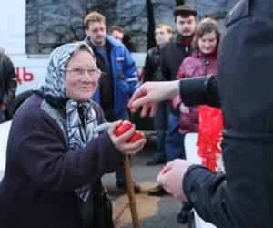 С1 по 15 апреля в Москве пройдет акция «Поздравь бездомных с Пасхой!»