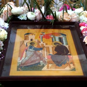 Утреня Великой Субботы с полиелеем праздника Благовещения Пресвятой Богородицы и чином погребения Господа нашего Иисуса Христа в храме св.Ирины