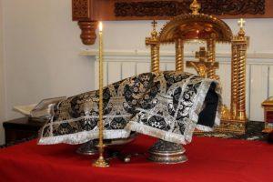 2 апреля, в Великий понедельник, Высокопреосвященнейший Димитрий, архиепископ Витебский и Оршанский, возглавил литургию Преждеосвященных Даров в храме св.Ирины