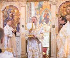 В праздник Благовещения Пресвятой Богородицы архиепископ Димитрий возглавил Литургию в одноименном храме города Витебска
