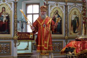 В Неделю 6-ю по Пасхе, о слепом, Высокопреосвященнейший Димитрий, архиепископ Витебский и Оршанский, возглавил Божественную литургию в храме святой Ирины
