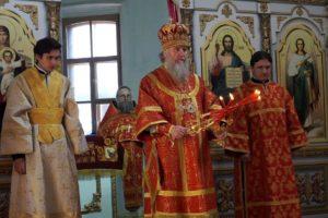 Фомина неделя. Антипасха. Архиерейское богослужение в храме св.Ирины.