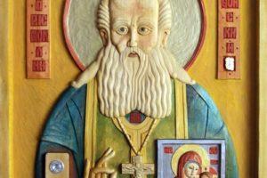 Создана тактильная икона прп. Аристоклия Афонского, чудотворца Московского