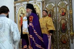 В праздник Вознесения Господня Высокопреосвященнейший Димитрий, архиепископ Витебский и Оршанский, возглавил Божественную литургию в храме святой Ирины