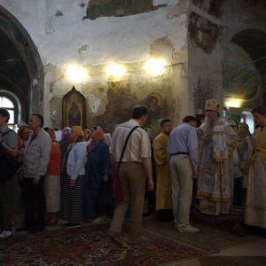 17 мая, накануне дня празднования памяти святой великомученицы Ирины, Высокопреосвященнейший Димитрий, архиепископ Витебский и Оршанский, совершил всенощное бдение в храме св.Ирины