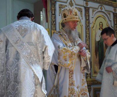 В Неделю 7-ю по Пасхе Высокопреосвященнейший Димитрий, архиепископ Витебский и Оршанский, совершил Божественную литургию в храме святой великомученицы Ирины