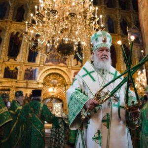 В день памяти прп. Сергия Радонежского Святейший Патриарх Кирилл совершил Литургию в Троице-Сергиевой лавре