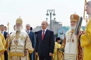 Блаженнейший Патриарх Александрийский Феодор и Святейший Патриарх Кирилл совершили молебен у памятника святому равноапостольному князю Владимиру