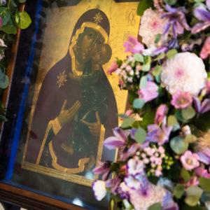 Чтимый Высоко-Петровский список Толгской иконы Божией Матери на один день доставили в обитель из запасников Государственного исторического музея