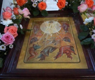 Всенощное бдение под праздник Преображения Господня в храме св.великомученицы Ирины.
