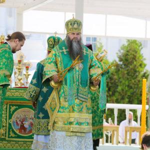 В день памяти преподобного Серафима Саровского в Дивеевском монастыре совершена Божественная литургия