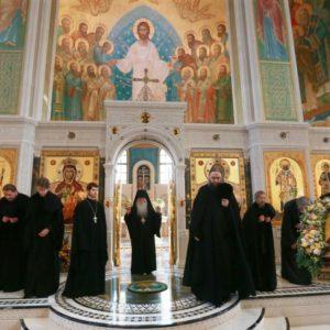 В Сретенском монастыре состоялся престольный праздник в честь Владимирской иконы Богоматери