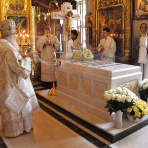 В Москве молитвенно отметили 57-ю годовщину архиерейской хиротонии Святейшего Патриарха Алексия II