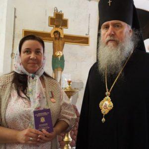 Награждение в храме св.Ирины