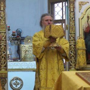 В Неделю 16-ю по Пятидесятнице архиепископ Димитрий возглавил Божественную литургию в храме св.Ирины