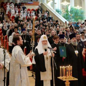 Предстоятель Русской Церкви принял участие в итоговом пленарном заседании VIII общецерковного съезда по социальному служению