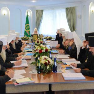 Святейший Патриарх Кирилл возглавил первое в истории заседание Священного Синода Русской Православной Церкви в Минске