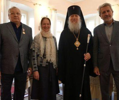 Награждение В.А.Горохова в храме св.Ирины