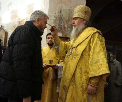 Архиепископ Димитрий возглавил всенощное бдение в храме св.Ирины