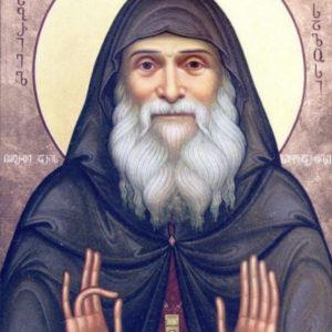 Благоухающая икона преподобноисповедника Гавриила (Ургебадзе) в храме св.Ирины с 6 января 2019 г.