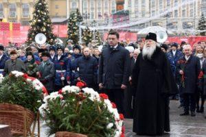 Представители Церкви приняли участие в возложении цветов к могиле Неизвестного солдата