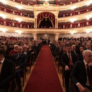 Святейший Патриарх Кирилл посетил новогодний торжественный вечер в Большом театре