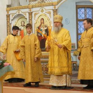 Неделя 28-я по Пятидесятнице. Божественную литургию в храме св.Ирины возглавляет архиепископ Димитрий