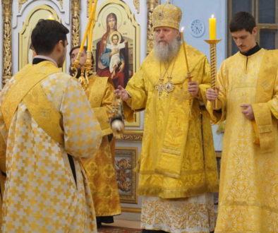 В канун Недели 29-й по Пятидесятнице архиепископ Димитрий возглавил всенощное бдение в храме св.Ирины