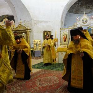 Всенощное бдение в Неделю 30-ю по Пятидесятнице, святителя Иоасафа, еп. Белгородского