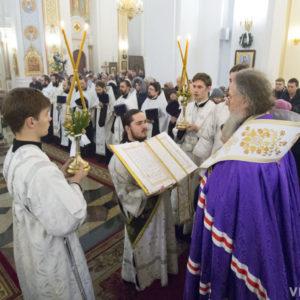 Архиепископ Димитрий возглавил праздничный молебен в кафедральном соборе