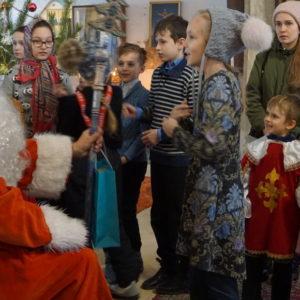 Рождественская елка в храме св.Ирины