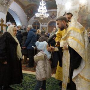 Всенощное бдение накануне празднования Крещения Господня в храме св.Ирины