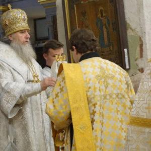 Накануне празднования памяти святителя Феофана Затворника архиепископ Димитрий совершил всенощное бдение в храме св.Ирины