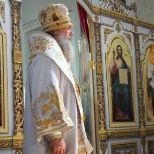Архиепископ Димитрий возглавил Божественную литургию в храме св.Ирины