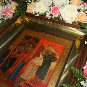 Накануне празднования Сретения Господня архиепископ Димитрий возглавил всенощное бдение в храме св.Ирины