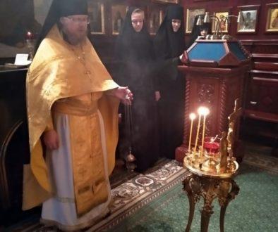 В Патриаршей резиденции в Чистом переулке совершена лития по Святейшему Патриарху Алексию II