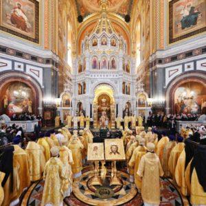 В Неделю Торжества Православия Предстоятель Русской Церкви совершил Литургию в Храме Христа Спасителя